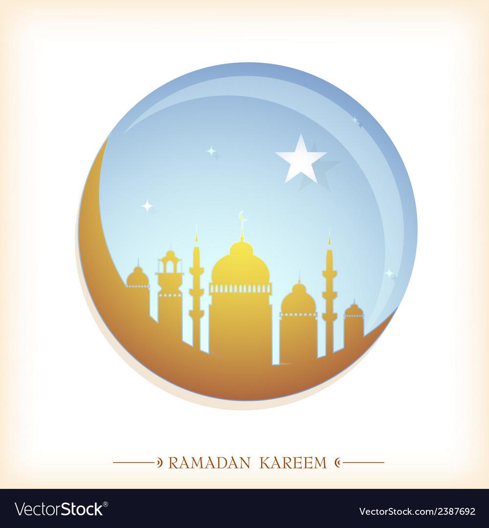 Ramadan greeting card vector | Price: 1 Credit (USD $1)