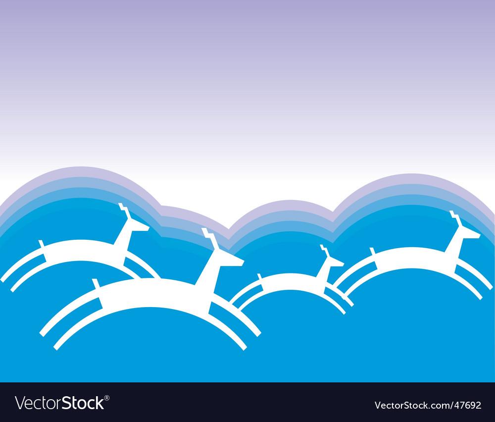 Reindeer vector | Price: 1 Credit (USD $1)