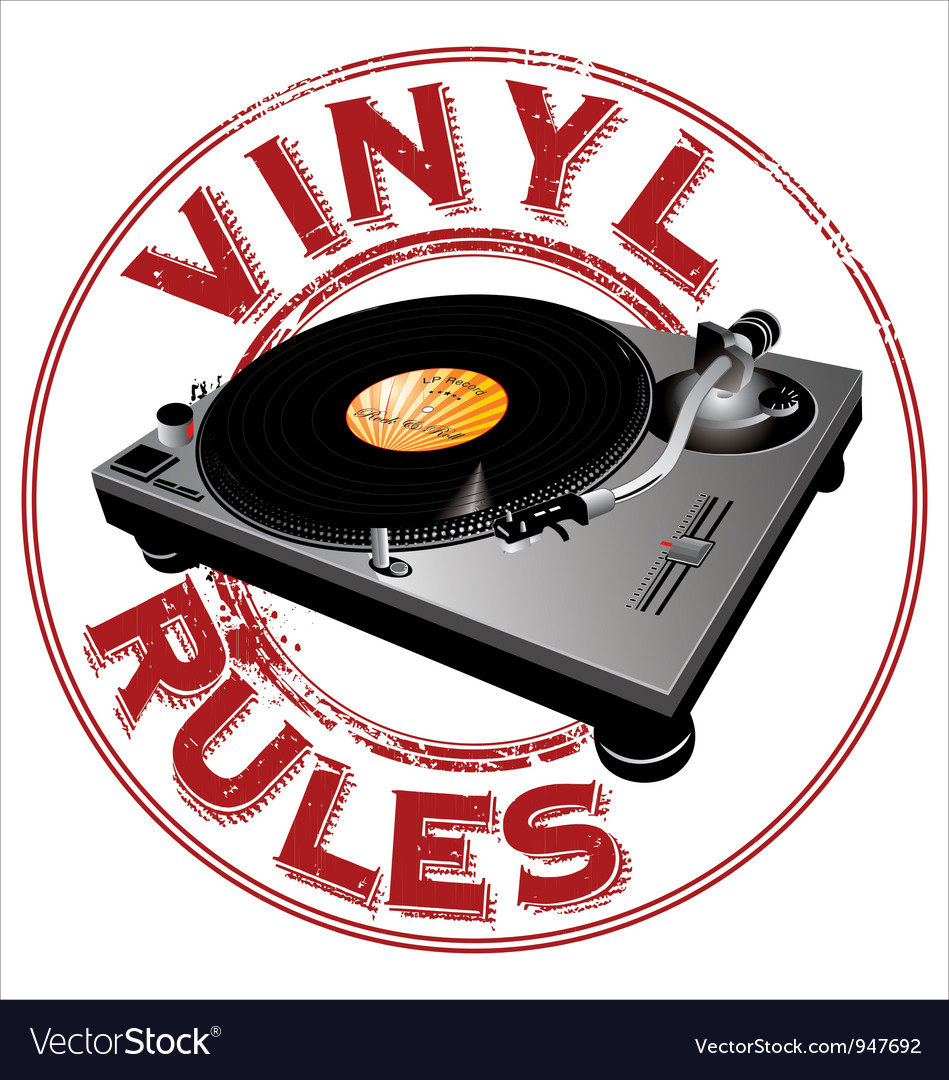 Vinyl rules background vector | Price: 1 Credit (USD $1)