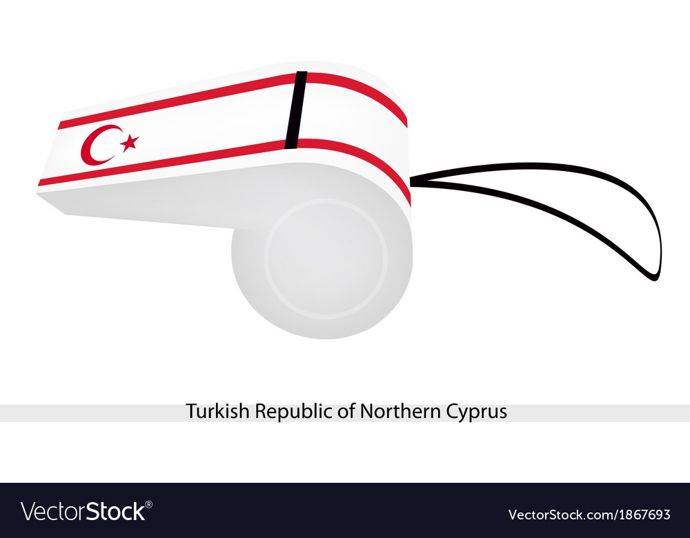 A whistle of turkish republic of northern cyprus vector | Price: 1 Credit (USD $1)