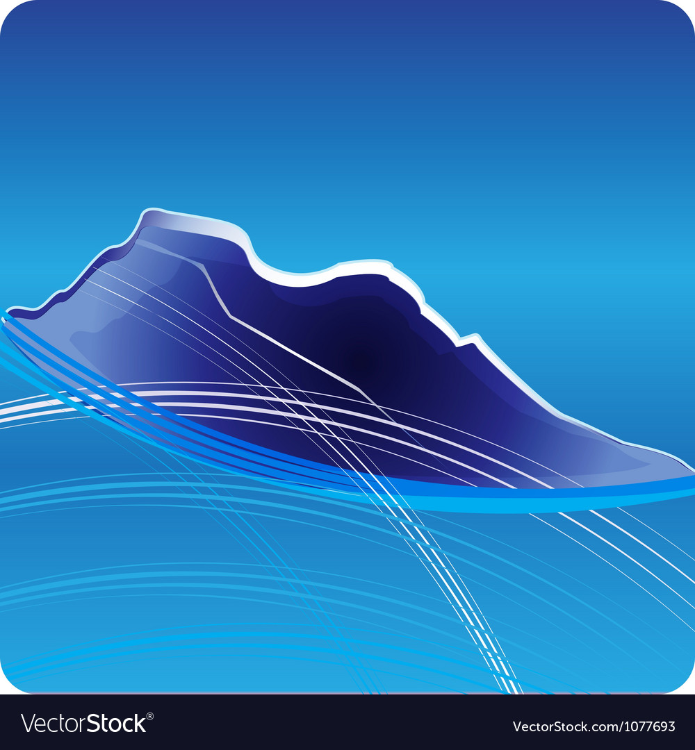 Blue mountains logo design vector | Price: 1 Credit (USD $1)