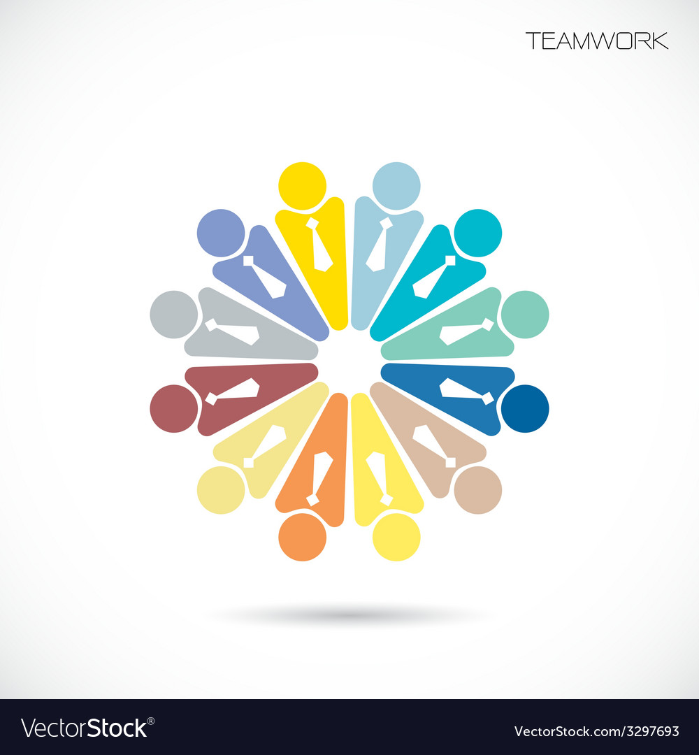 Business teamwork cooperation icon vector | Price: 1 Credit (USD $1)