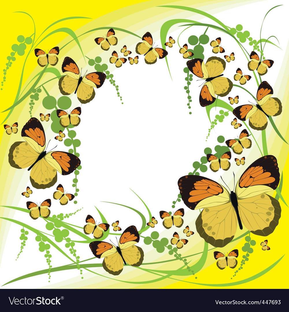 Butterflies spring vector | Price: 1 Credit (USD $1)