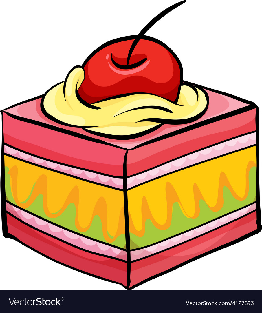 Colourful piece of cake vector   Price: 1 Credit (USD $1)
