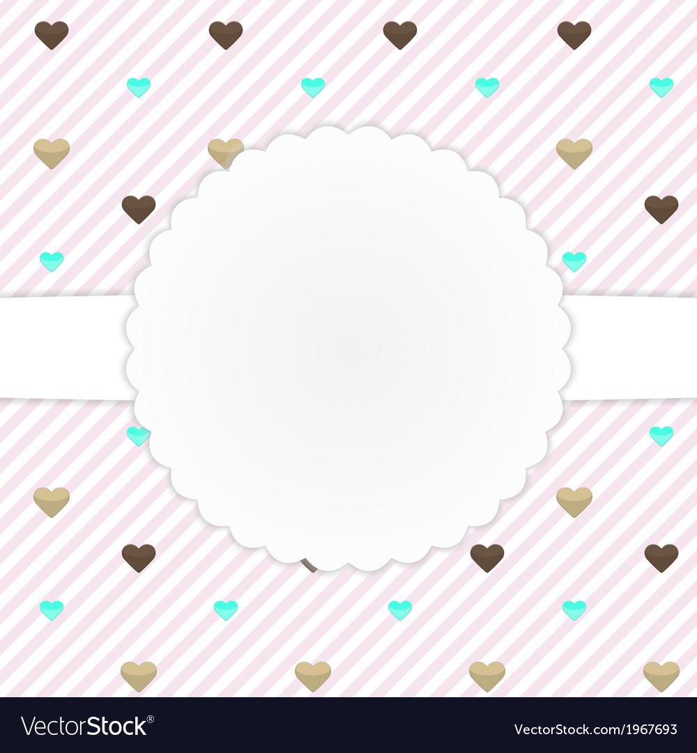 Pink card template with hearts vector | Price: 1 Credit (USD $1)