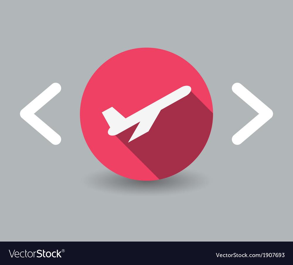 Plane icon vector | Price: 1 Credit (USD $1)