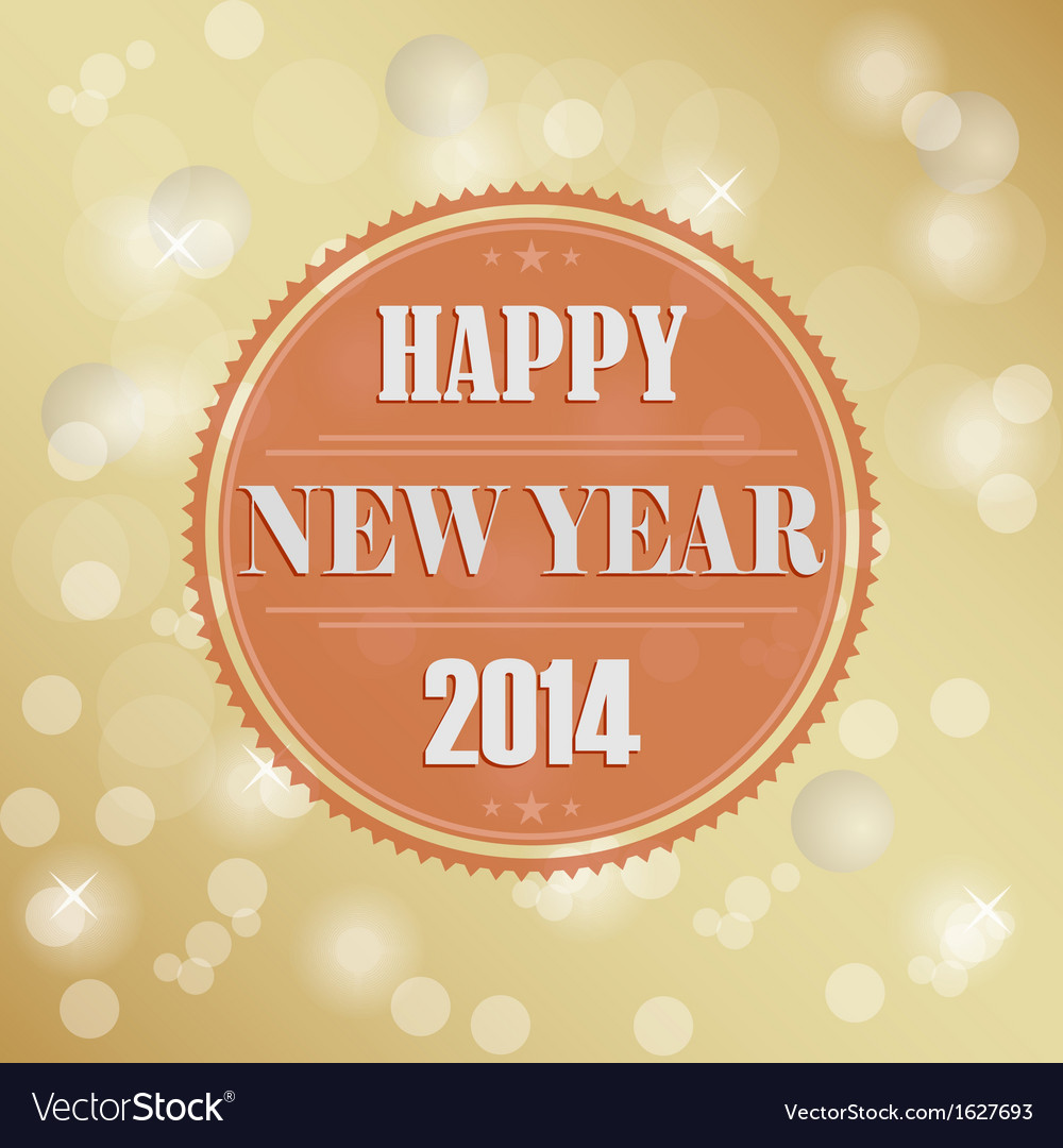 Retro new years wish background vector | Price: 1 Credit (USD $1)