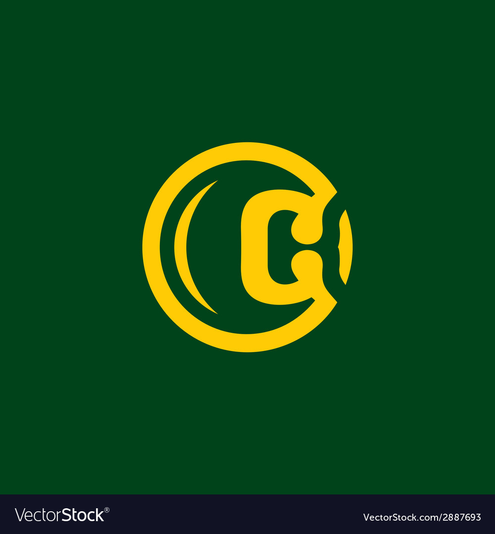 Sign the letter c vector | Price: 1 Credit (USD $1)