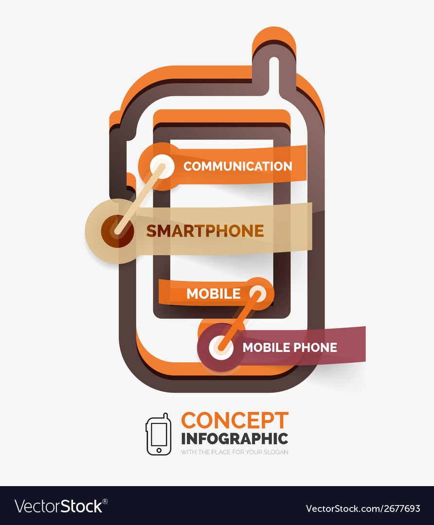 Smartphone icon infographic concept vector | Price: 1 Credit (USD $1)