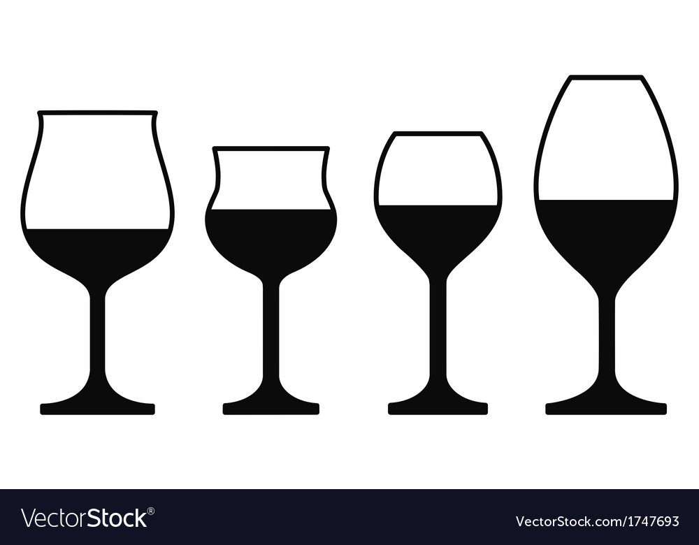 Wine glasses on a white background vector | Price: 1 Credit (USD $1)