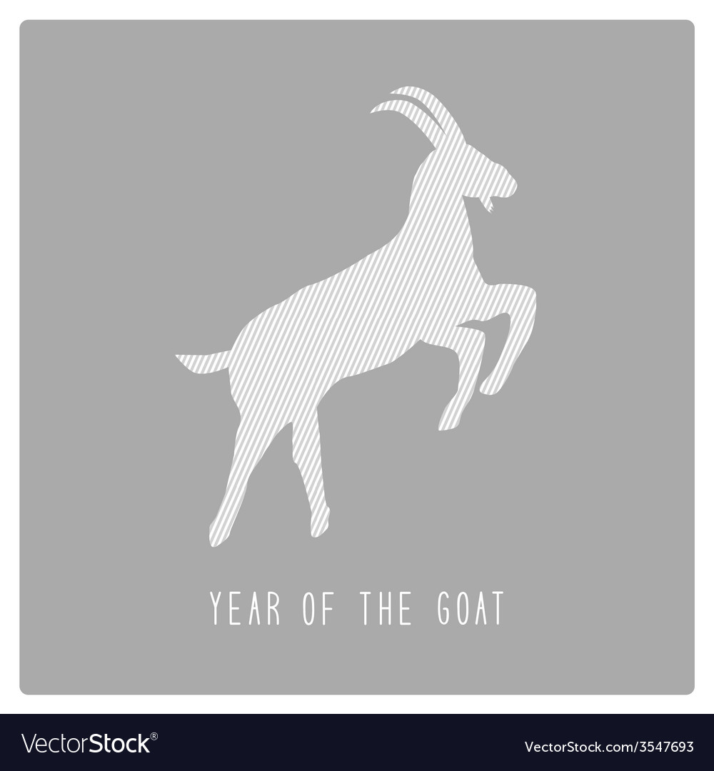 Year of the goat9 vector | Price: 1 Credit (USD $1)