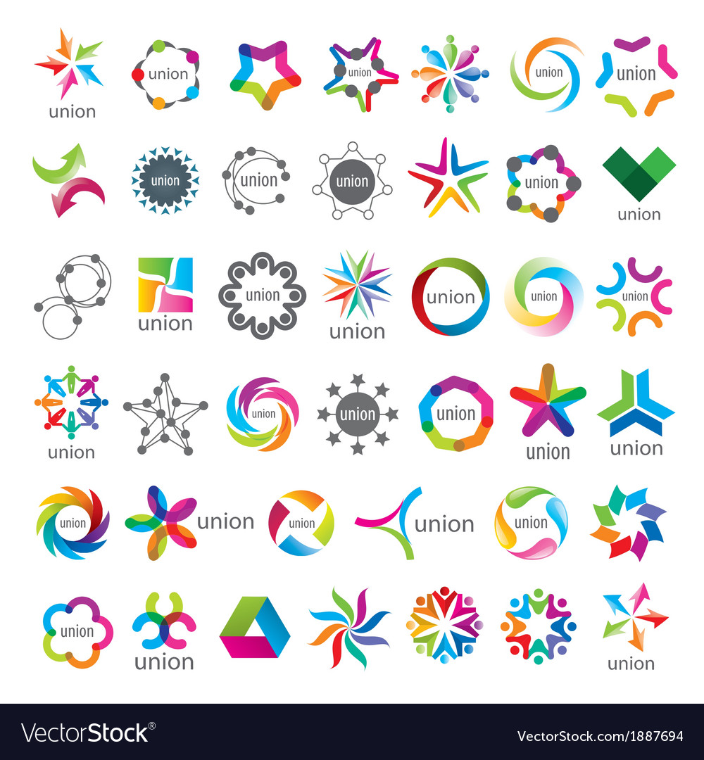 Biggest collection of logos union vector | Price: 1 Credit (USD $1)