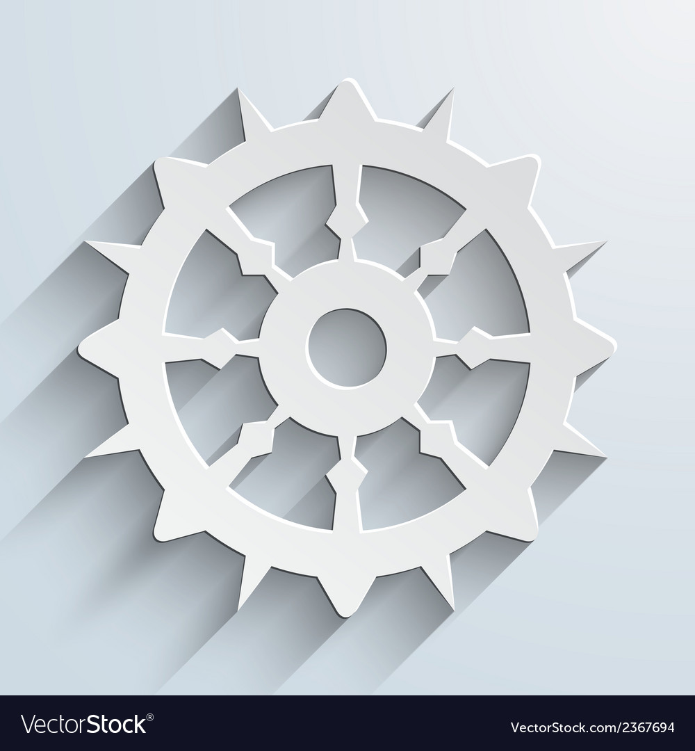 Boat steering wheel sail vector | Price: 1 Credit (USD $1)
