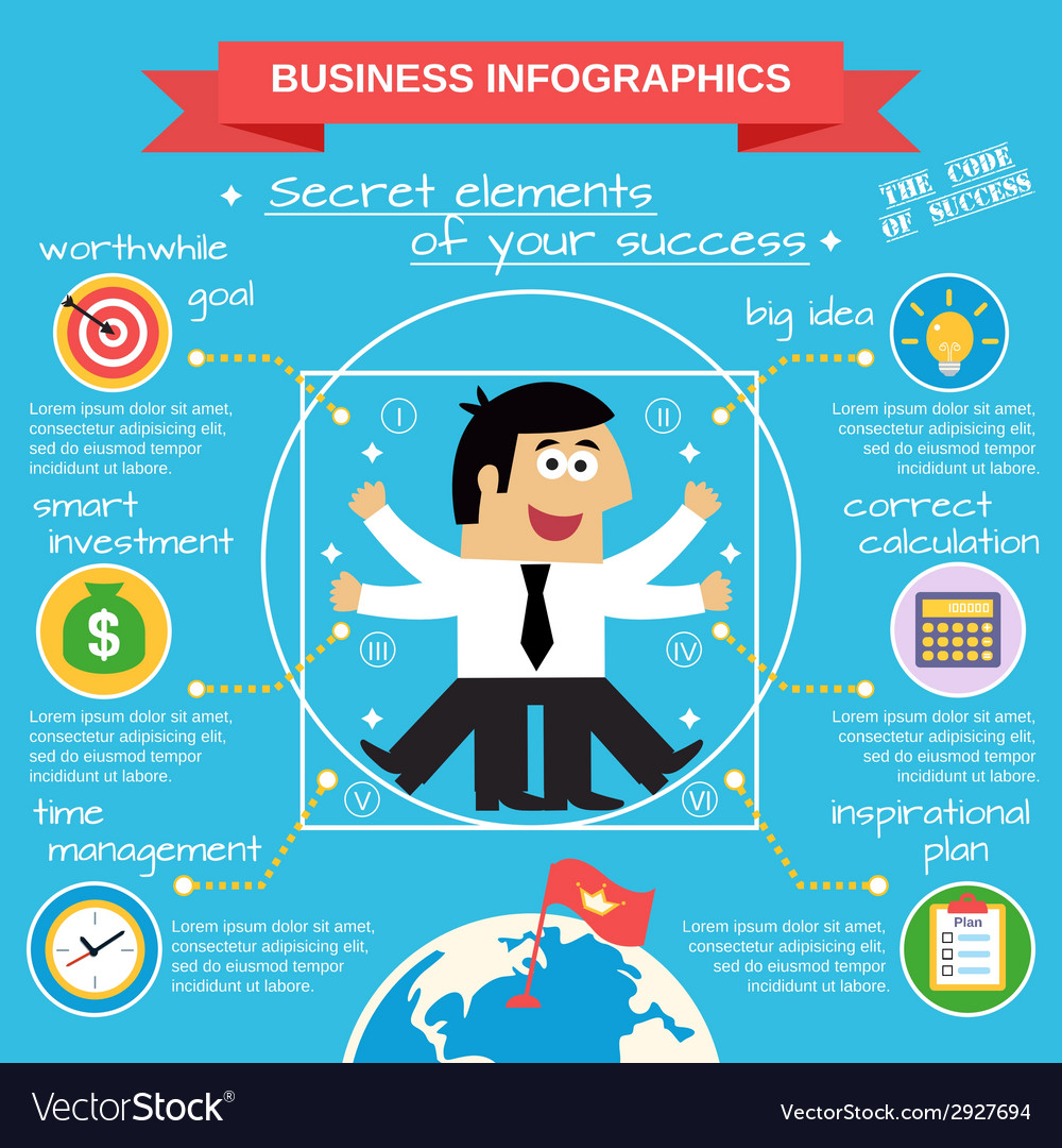 Business infographics set vector   Price: 1 Credit (USD $1)