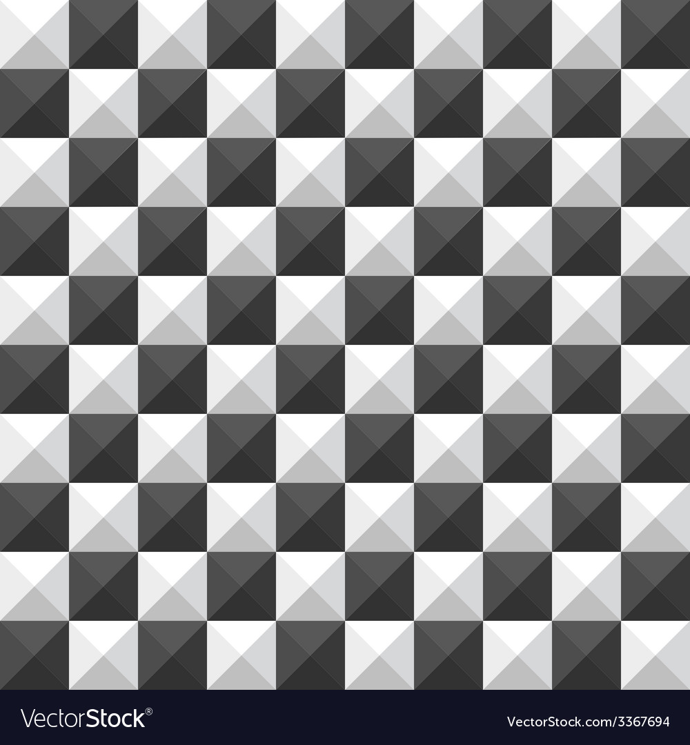 Chessboard pyramid seamless pattern vector | Price: 1 Credit (USD $1)