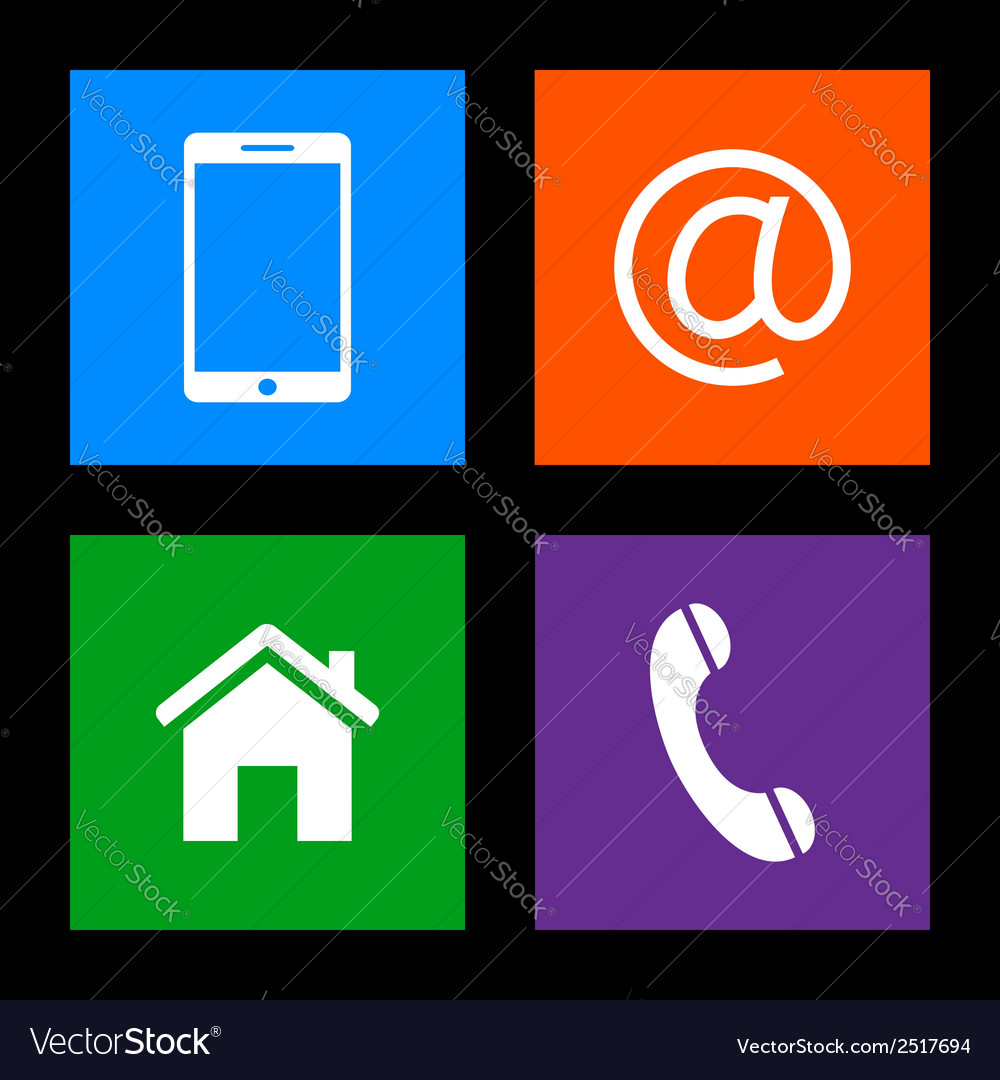 Contact buttons vector | Price: 1 Credit (USD $1)