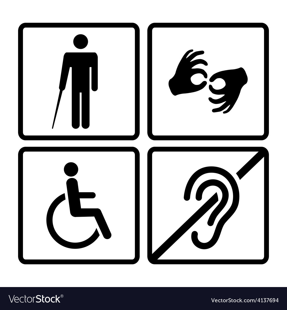Disabled signs vector | Price: 1 Credit (USD $1)