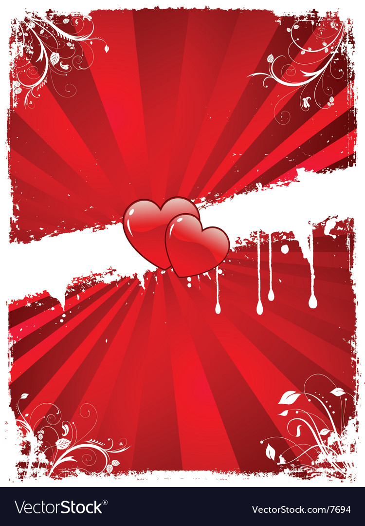 Grunge valentines vector | Price: 1 Credit (USD $1)