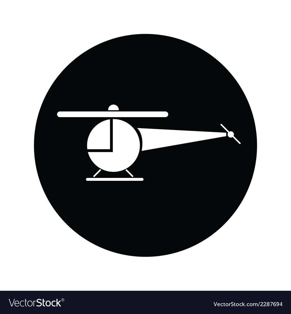 Helicopter symbol icon vector | Price: 1 Credit (USD $1)