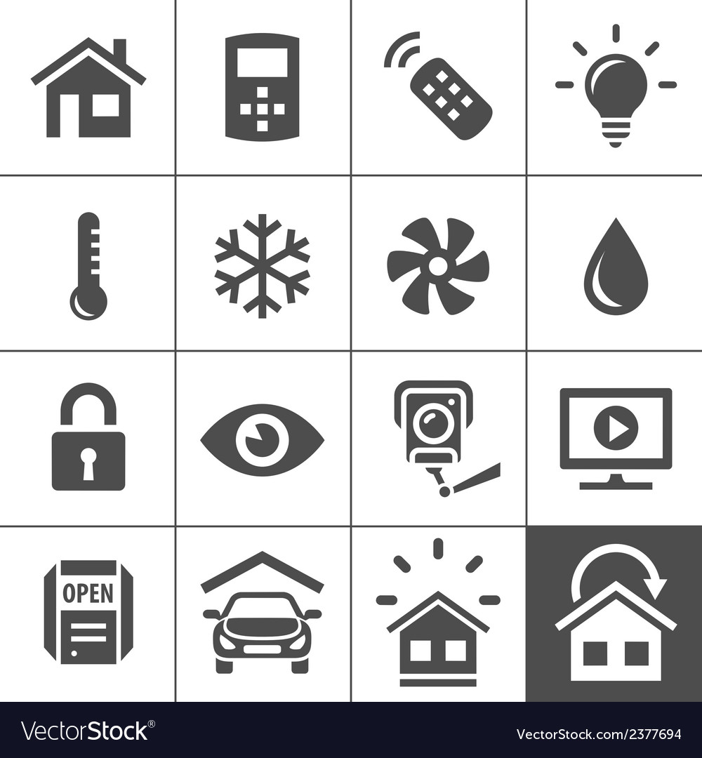 Home automation control systems icons vector | Price: 1 Credit (USD $1)