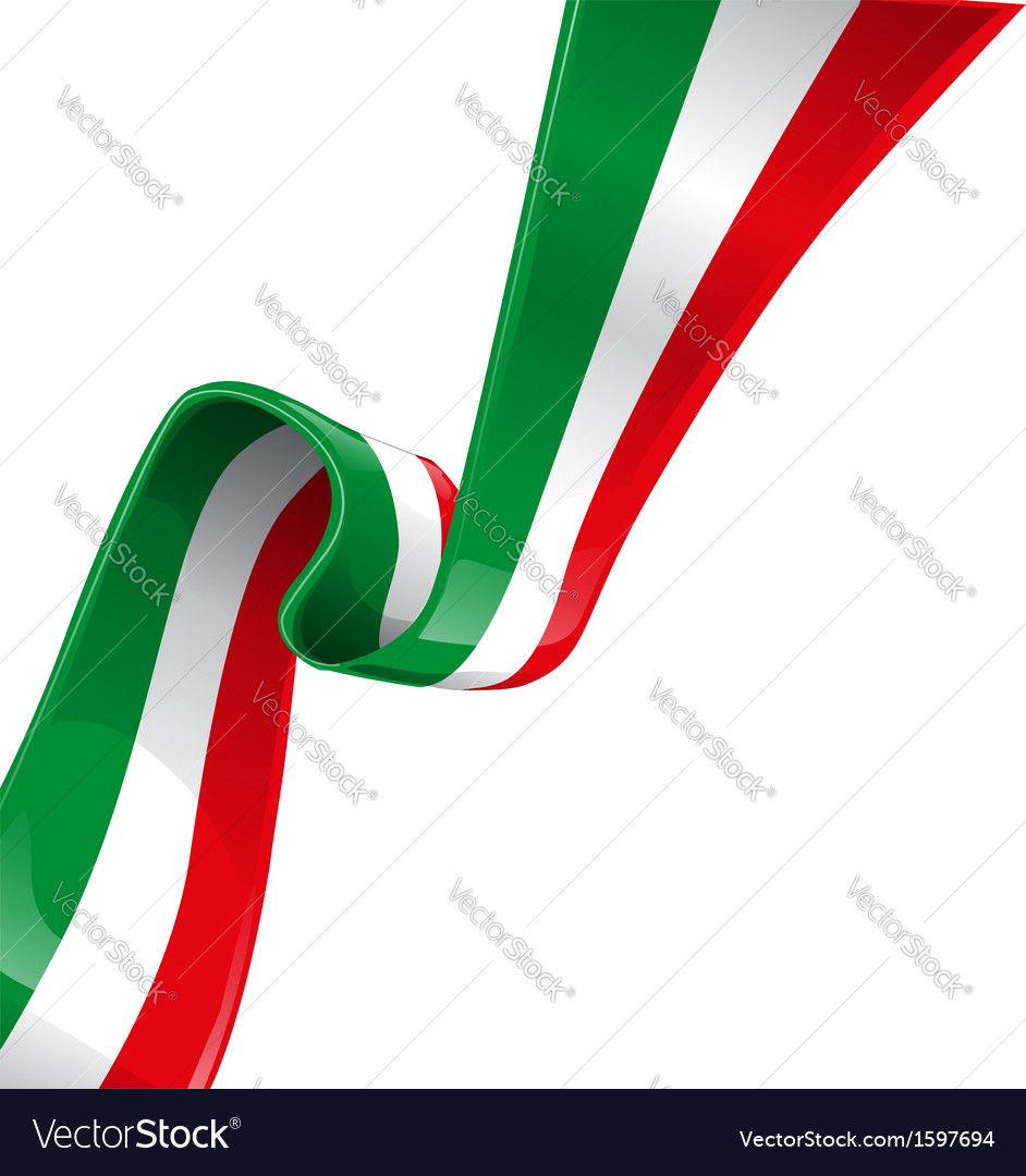 Italian background with flag vector | Price: 1 Credit (USD $1)
