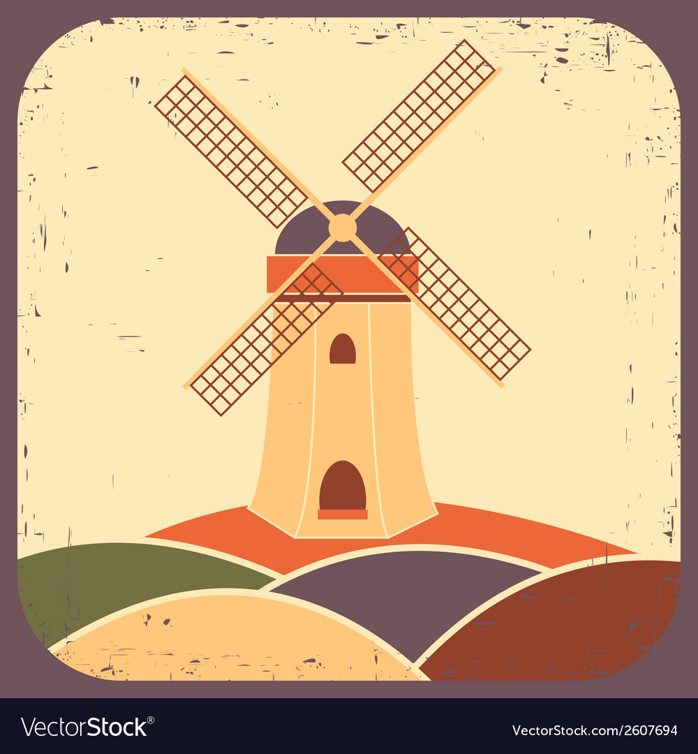 Mill vector | Price: 1 Credit (USD $1)