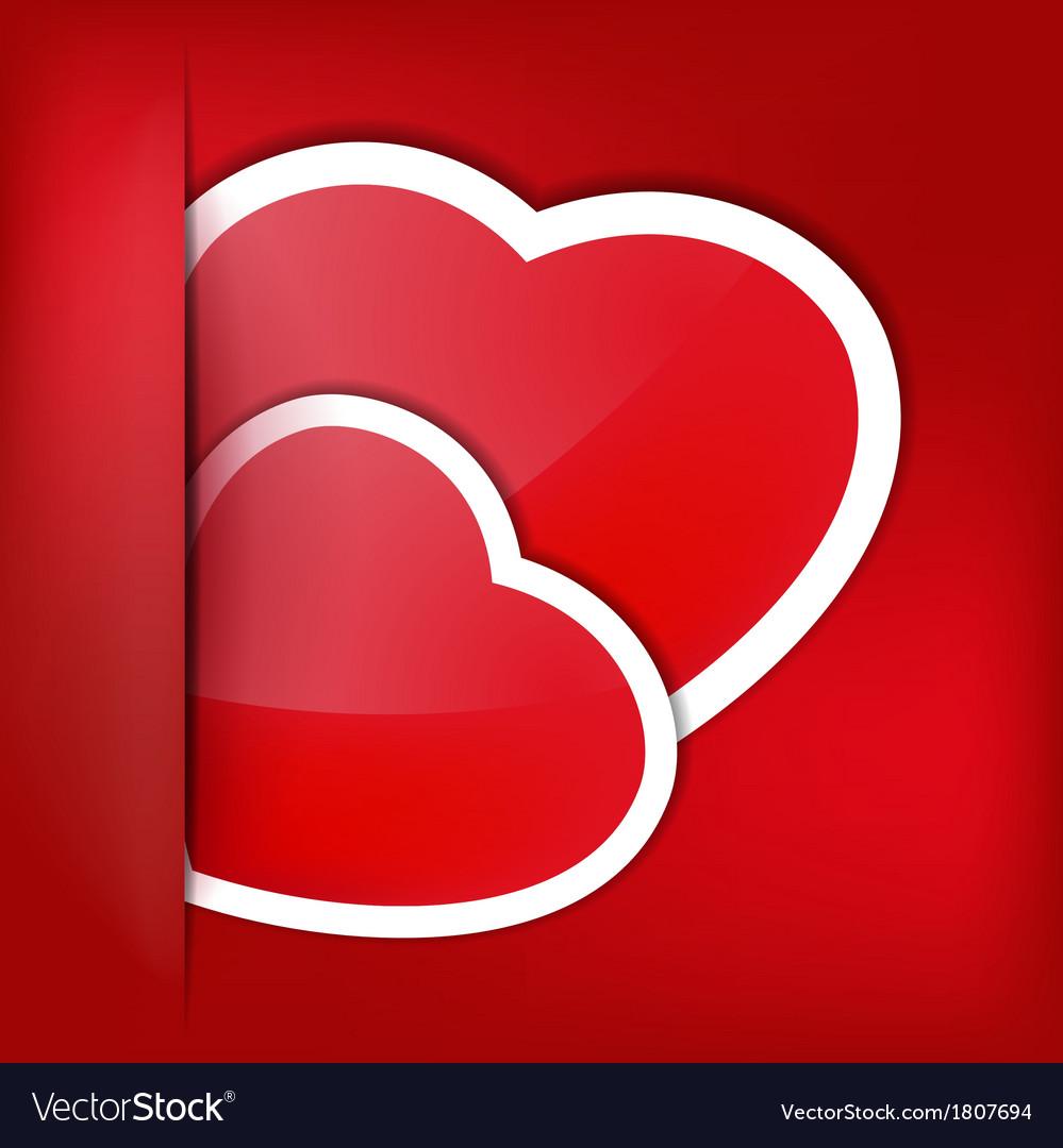 Paper sticker valentines day eps 10 vector | Price: 1 Credit (USD $1)