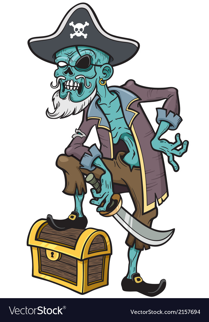 Pirate zombie vector | Price: 3 Credit (USD $3)