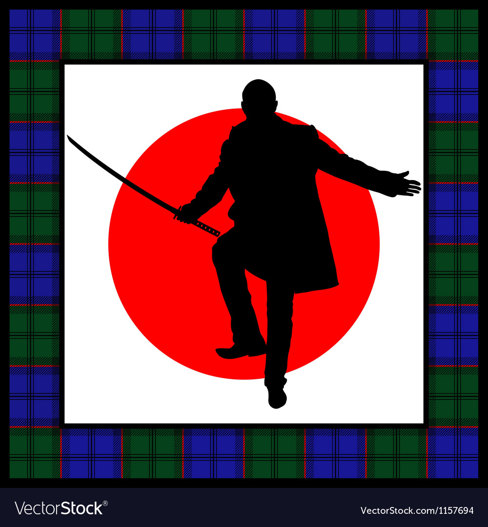 Silhouette of man with sword vector   Price: 1 Credit (USD $1)