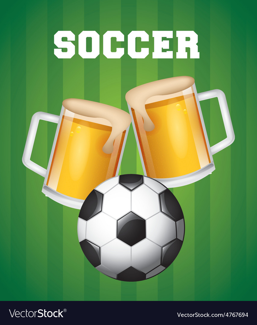 Soccer and beer vector | Price: 1 Credit (USD $1)