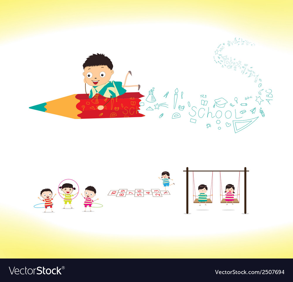 Welcome to school vector | Price: 1 Credit (USD $1)
