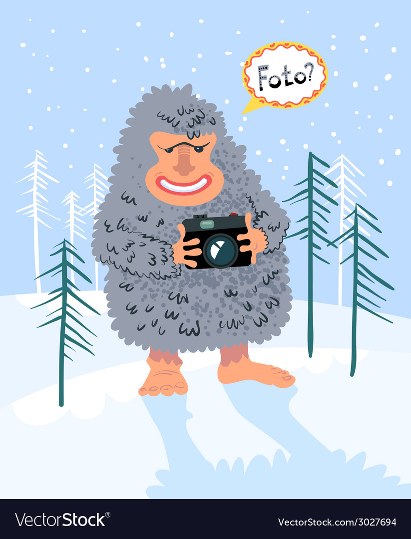 Yeti photographer vector | Price: 1 Credit (USD $1)