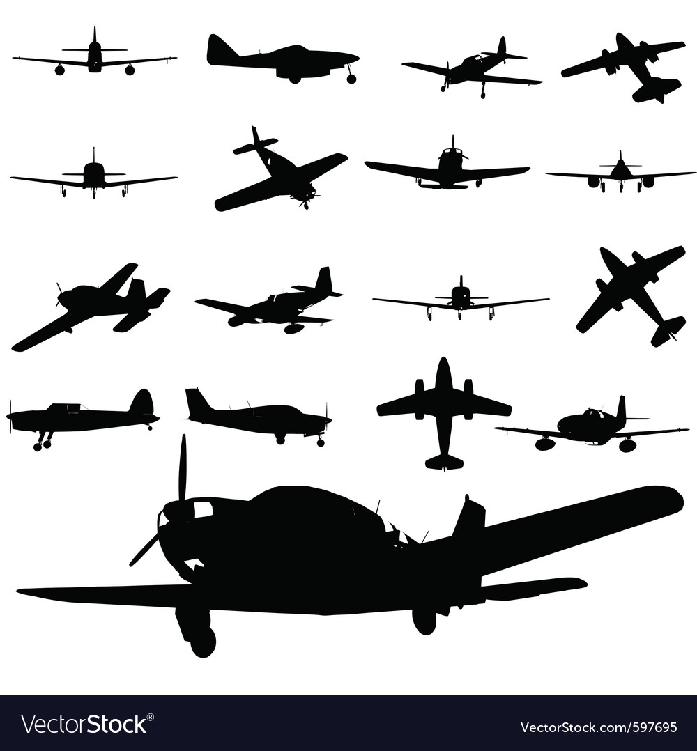Airplane silhouette vector | Price: 1 Credit (USD $1)