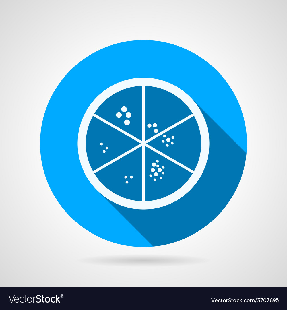 Flat icon for laboratory petry dish vector | Price: 1 Credit (USD $1)