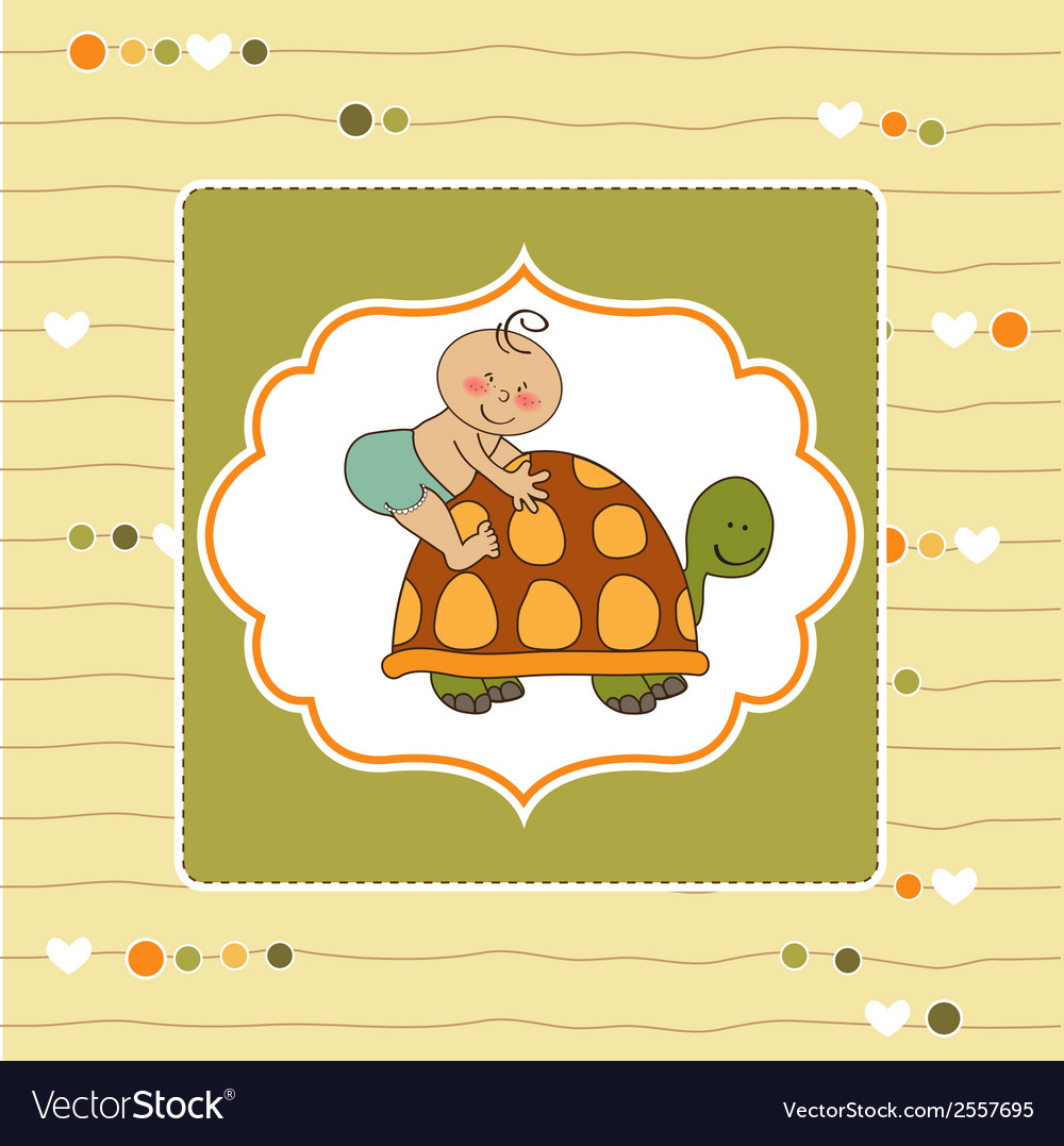 Funny baby boy announcement card vector   Price: 1 Credit (USD $1)