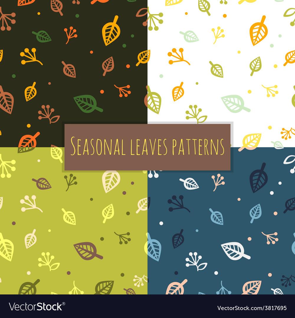 Leaves pattern 4 seasons vector | Price: 1 Credit (USD $1)