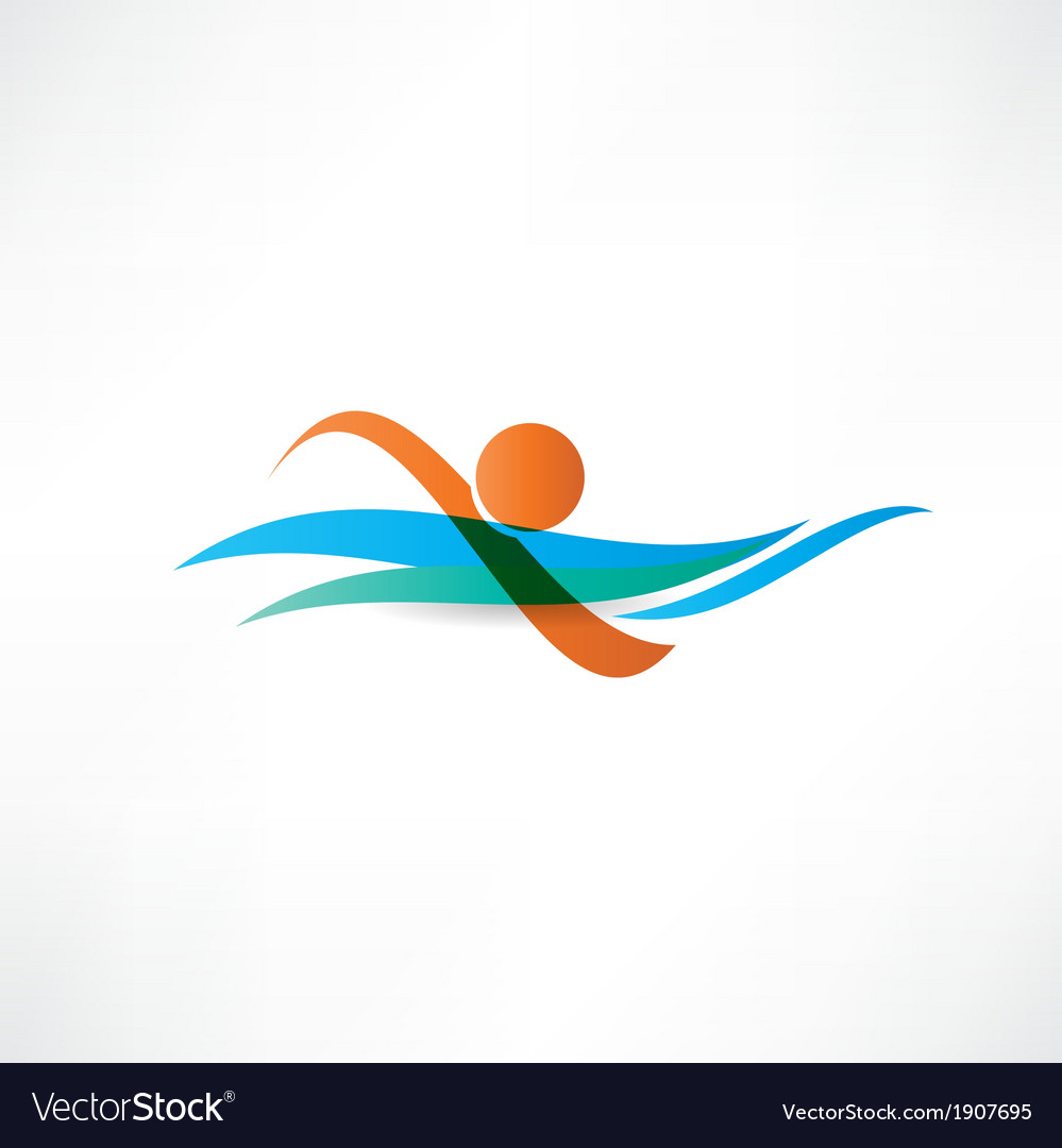 Sportsmen swimming icon vector | Price: 1 Credit (USD $1)