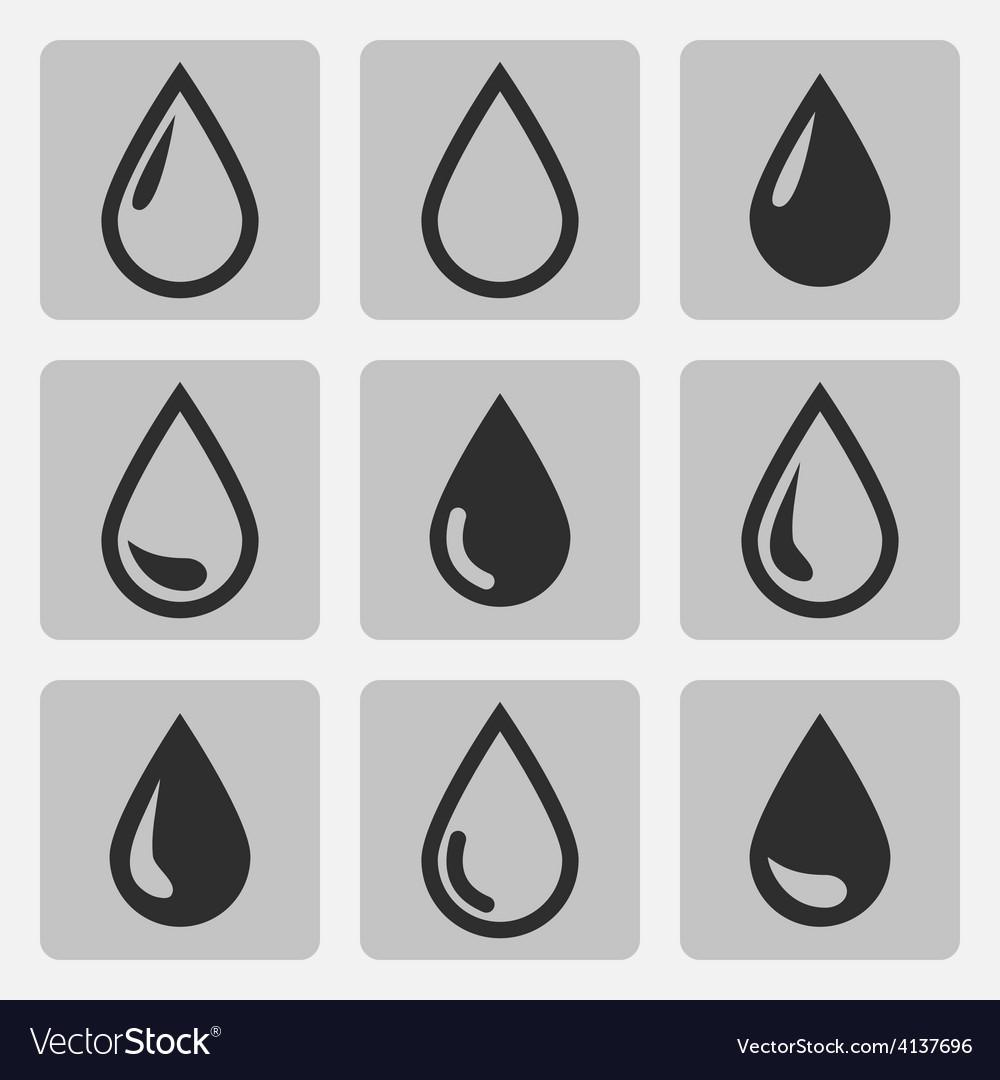 Drop black icons vector | Price: 1 Credit (USD $1)