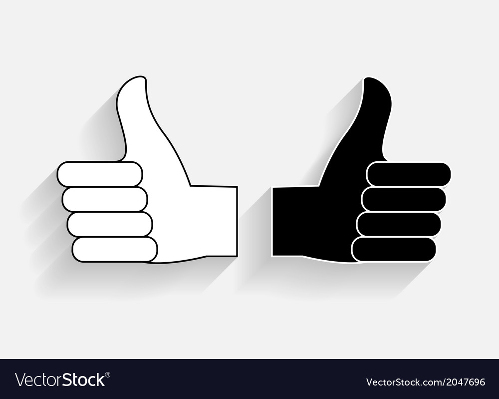Hand signal on white  eps 10 vector | Price: 1 Credit (USD $1)