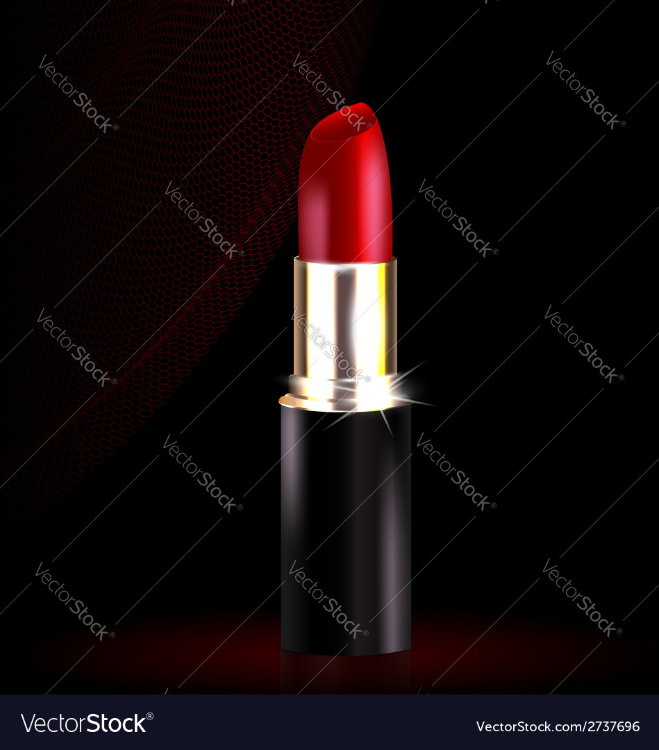 Lipstick in black-red vector | Price: 1 Credit (USD $1)