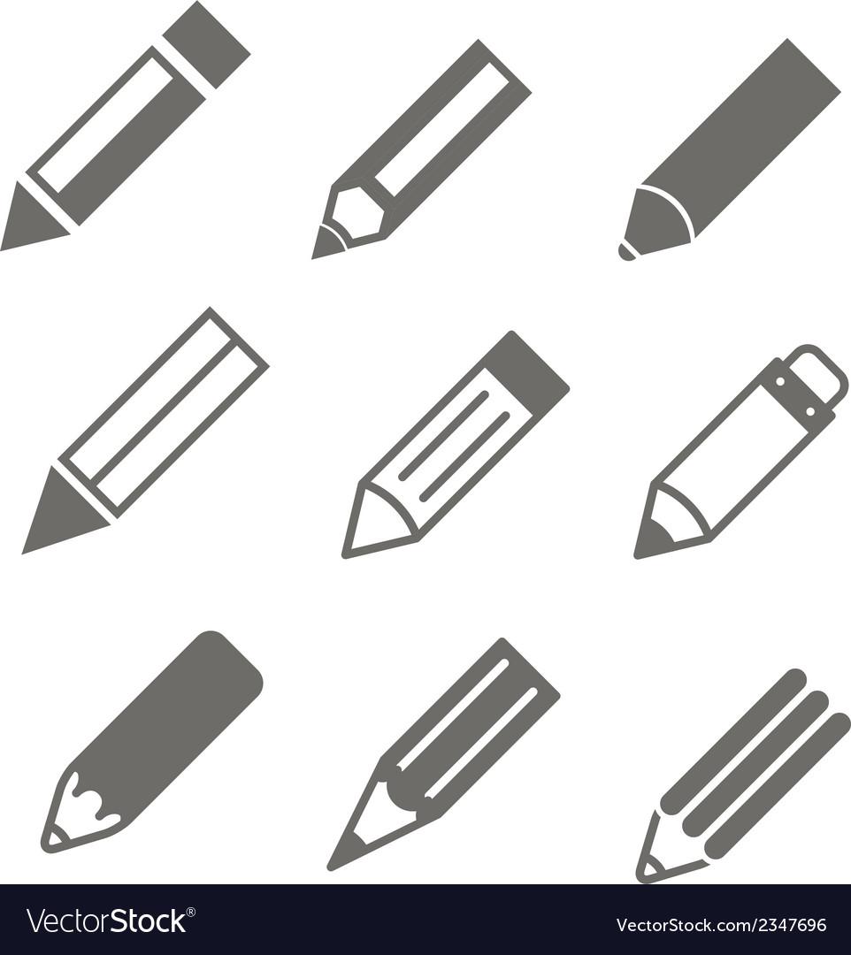 Pen set vector | Price: 1 Credit (USD $1)