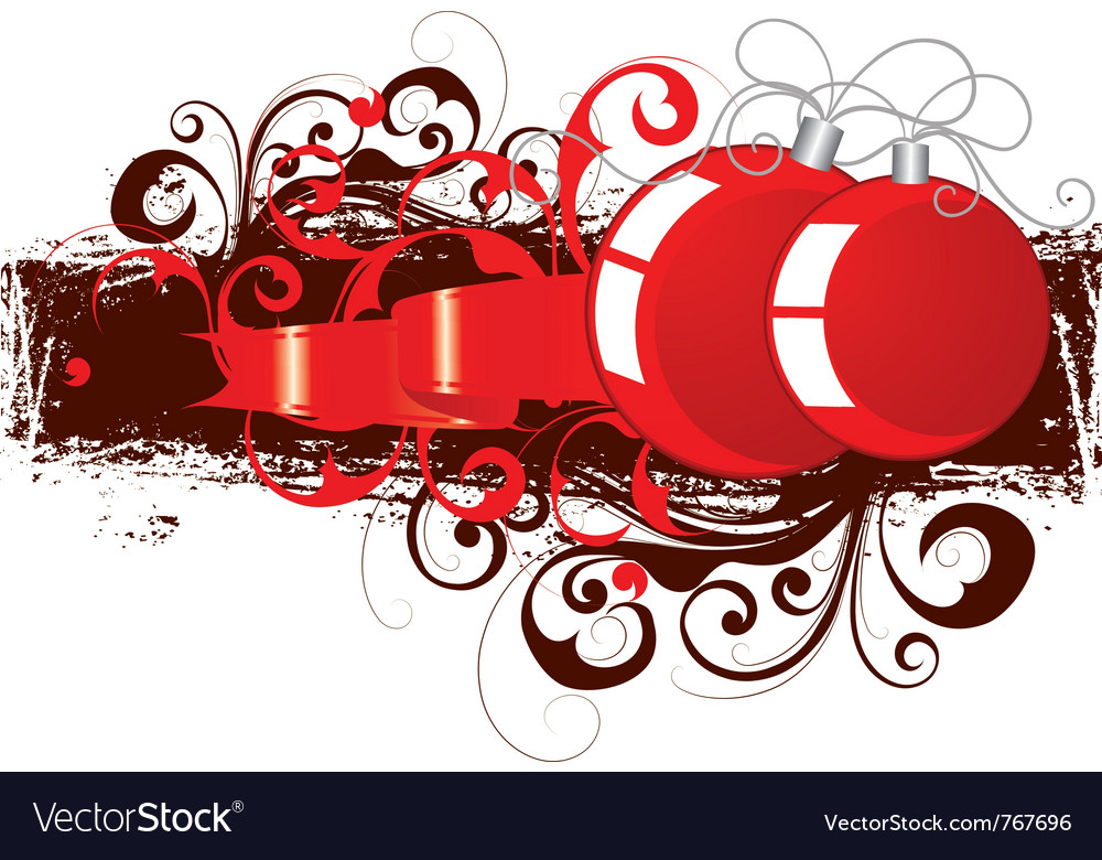 Red and black ornaments vector | Price: 1 Credit (USD $1)