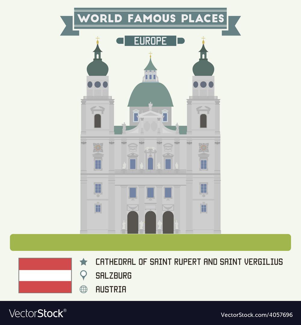 Salzburg cathedral vector | Price: 1 Credit (USD $1)