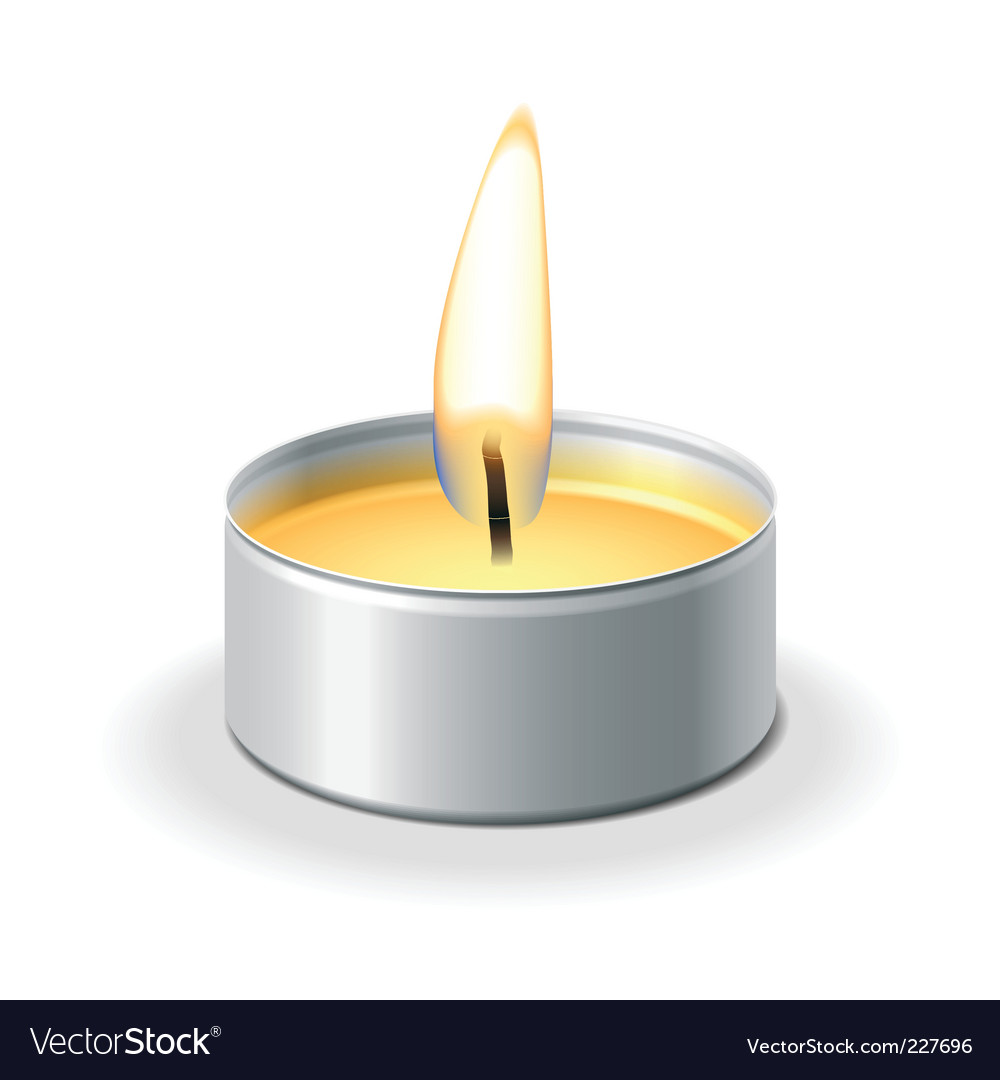 Tea light vector | Price: 1 Credit (USD $1)