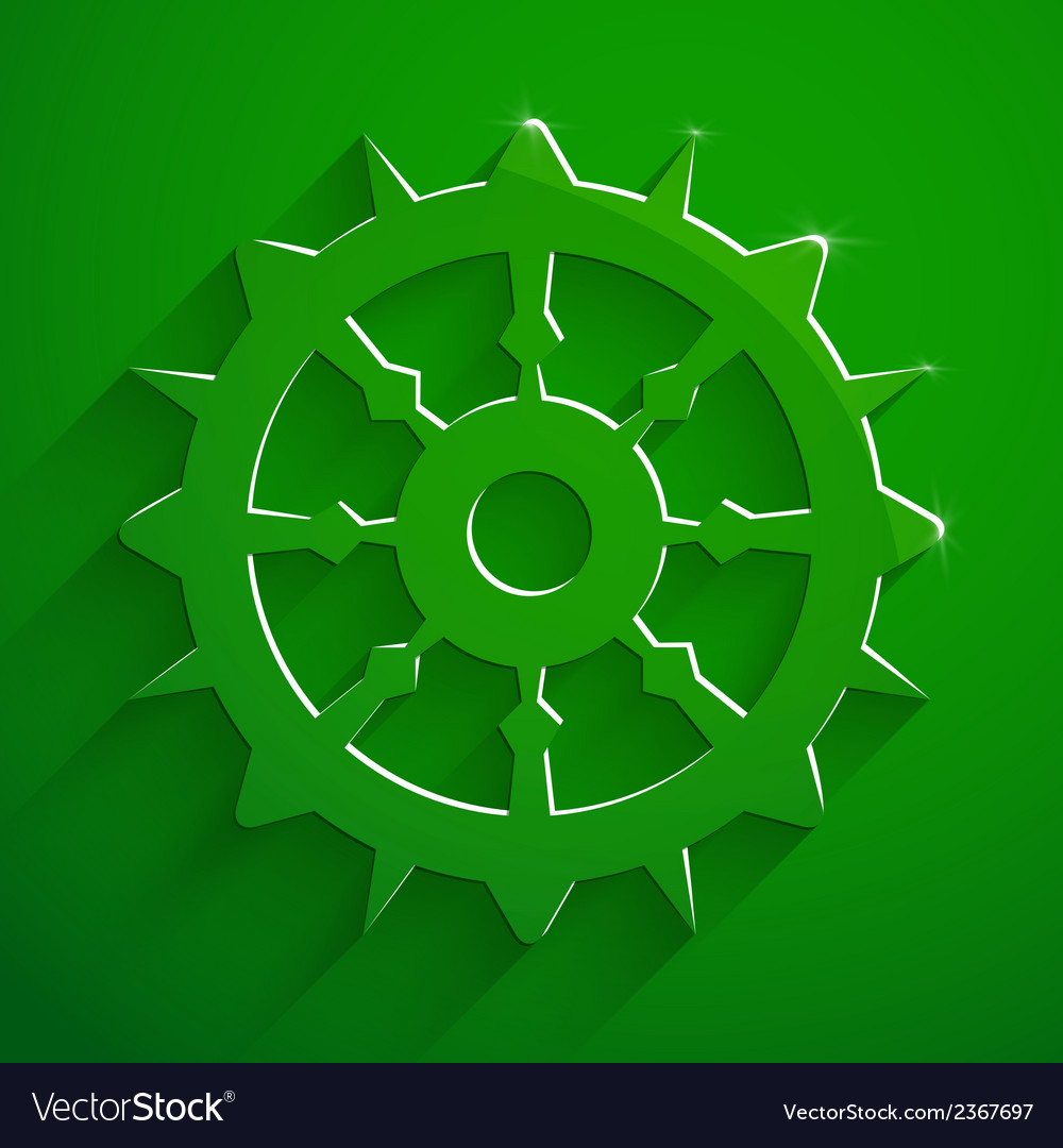Boat steering wheel sail vector | Price: 1 Credit (USD $1)