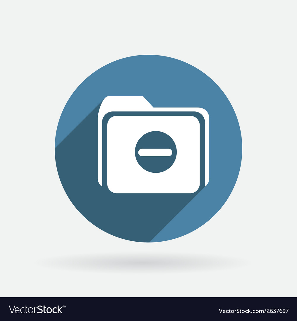 Folder for documents circle blue icon with shadow vector | Price: 1 Credit (USD $1)
