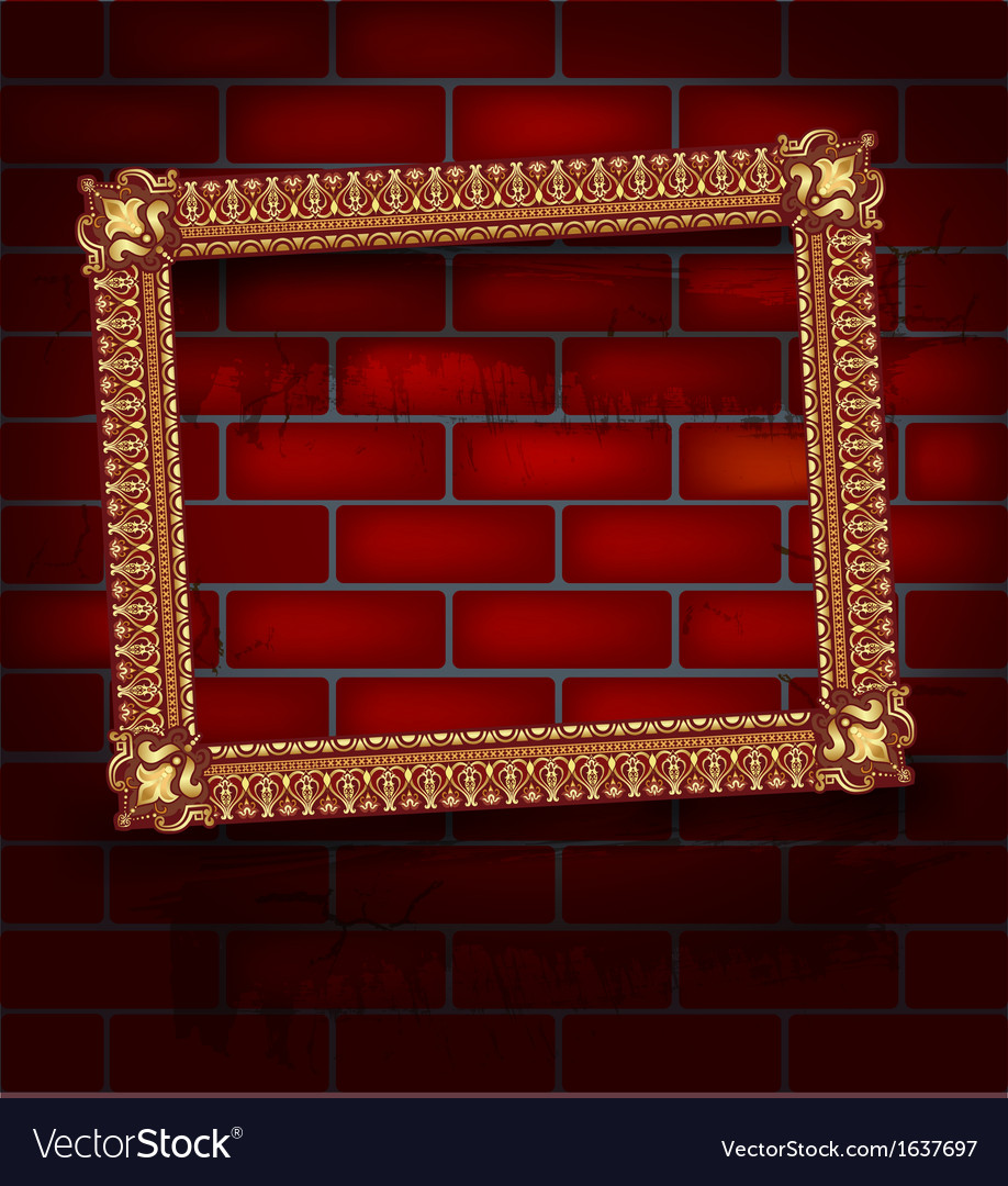 Frame on the brick wall vector | Price: 1 Credit (USD $1)