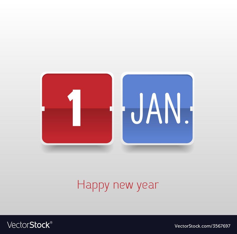 Happy new year calendar vector | Price: 1 Credit (USD $1)