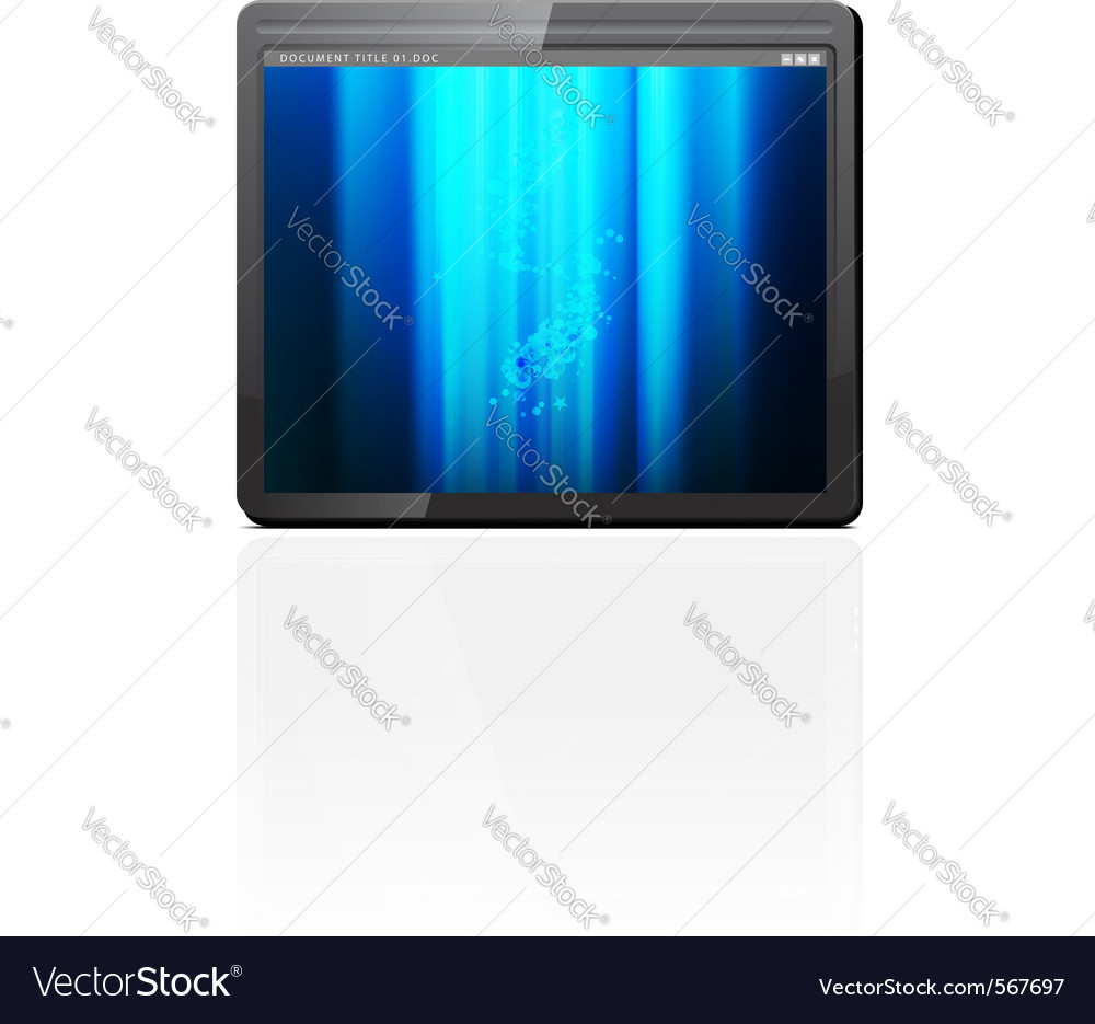 Mobile tablet pc vector | Price: 1 Credit (USD $1)