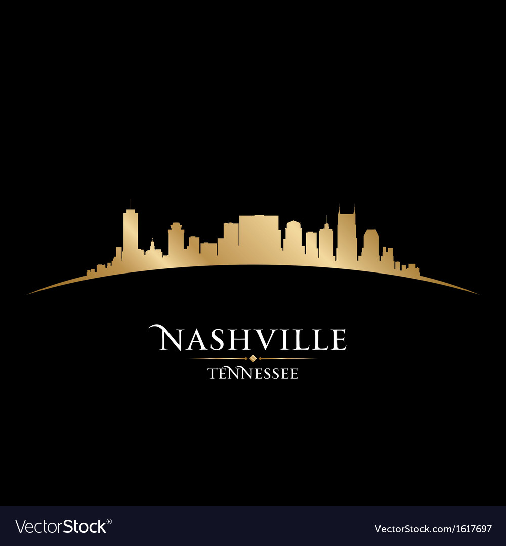Nashville tennessee city skyline silhouette vector | Price: 1 Credit (USD $1)
